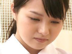 shy japanese nurse handles a dick