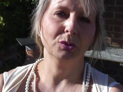 slutty mature masturbating outdoor