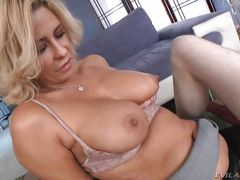 horny milf gets dirty in bedroom @ milf strap #02