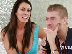 smoking big tit milf comforts her stepson