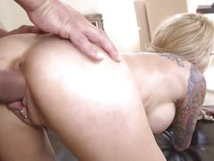tied up blonde milf fucked from behind