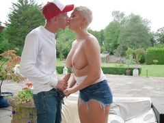 busty milf seduced her new neighbour